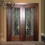 contemporary leaded glass doors