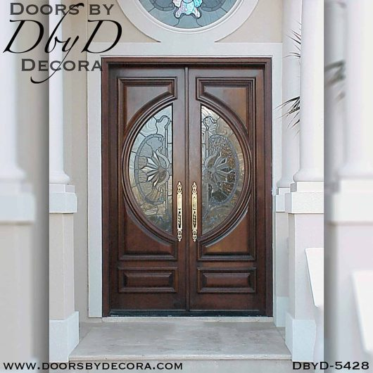 contemporary double doors with glass