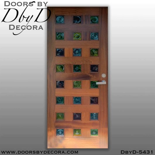 contemporary colorful front door