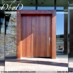 contemporary wide wooden door