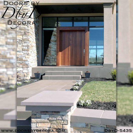 contemporary wide wooden door