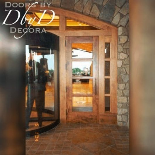 A close-up look at these custom hotel doors.