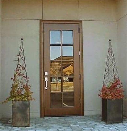 A simple true divided light commercial door.