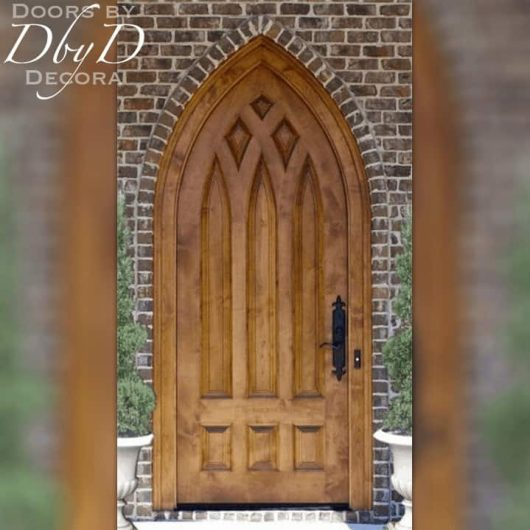 cathedral shaped church door
