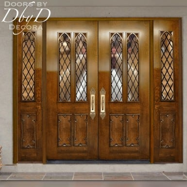 custom panel church doors