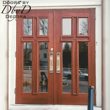 A pair of our standard cross doors.