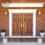 These double doors are shown with our standard cross configuration.