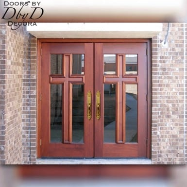 A beautiful example of our standard cross doors.