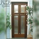 A version of our standard cross door shown with a heavily textured glass.
