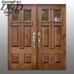 "A variation of our standard ""cross doors"" featuring glass and wood panels."