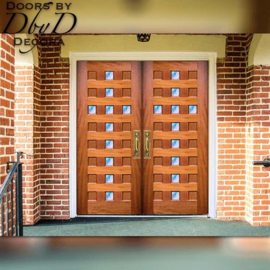 "A contemporary twist on our traditional ""cross doors."" These doors feature true divided lights in the shape of a cross."