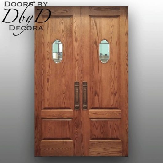 A pair of eight foot tall double doors Doors by Decor designed and built for a church.