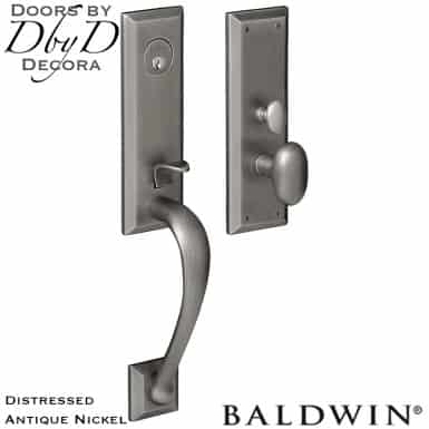 Baldwin distressed antique nickel cody 3/4 handleset.