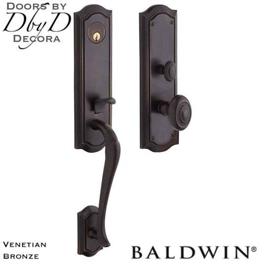 Baldwin venetian bronze beth page 3/4 handleset.