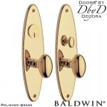 Baldwin polished brass wilmington entrance trim.