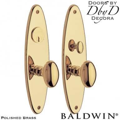 Baldwin polished brass wilmington entrance trim.