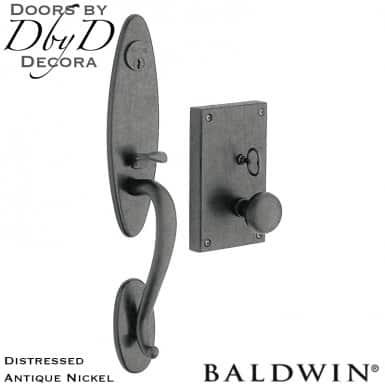 Baldwin distressed antique nickel williamsburg handleset.