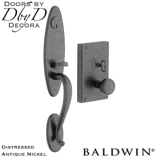 Baldwin distressed antique nickel williamsburg handleset.