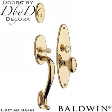 Baldwin lifetime brass lexington handleset.