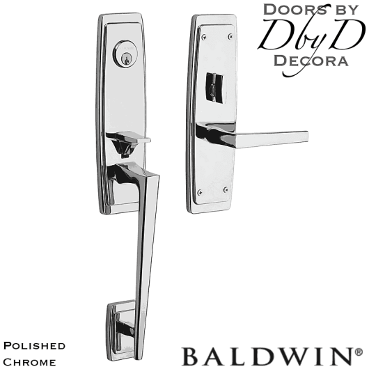 Baldwin polished chrome palm springs 3/4 handleset.