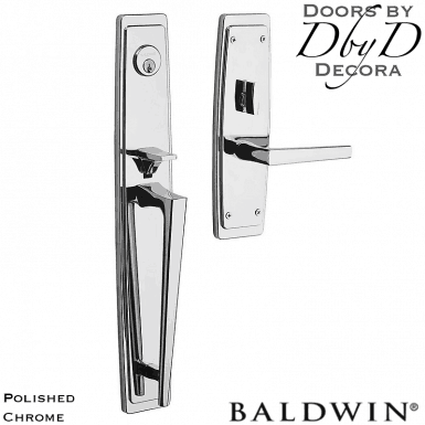 Baldwin polished chrome palm springs full handleset.
