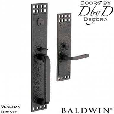 Baldwin venetian bronze pasadena handleset.