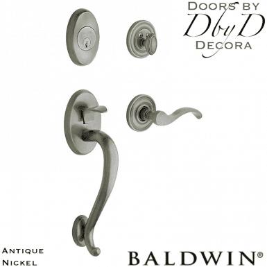 Baldwin antique nickel logan handleset.
