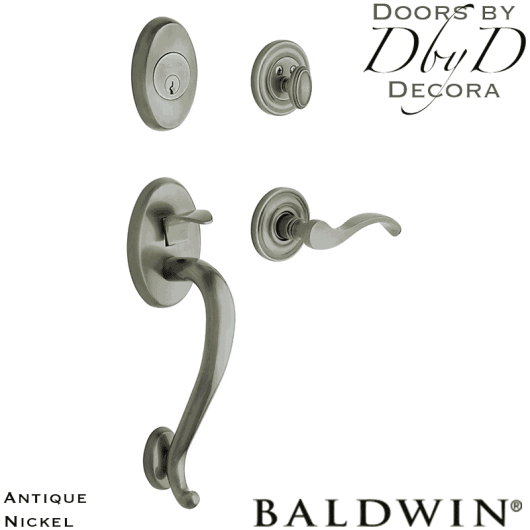 Baldwin antique nickel logan handleset.