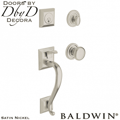 Baldwin satin nickel madison handleset.