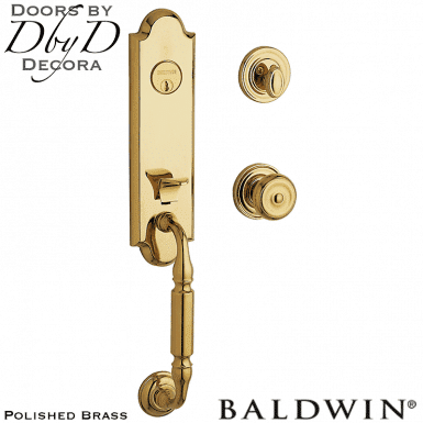 Baldwin polished brass nantucket handleset.