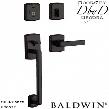 Baldwin oil rubbed bronze soho sectional handleset.