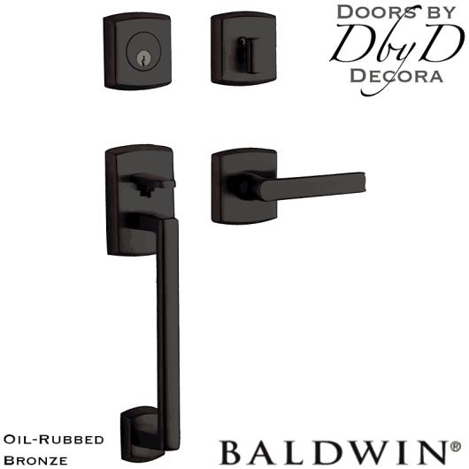 Baldwin oil rubbed bronze soho sectional handleset.