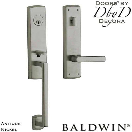 Baldwin antique nickel soho handleset.