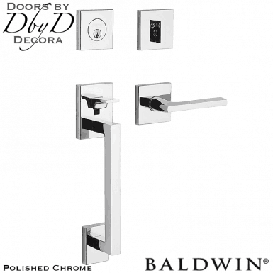 Baldwin polished chrome minneapolis sectional handleset.