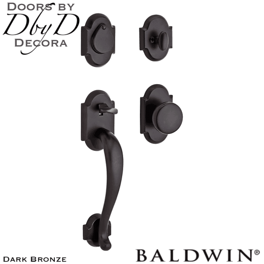 Baldwin reserve dark bronze adirondack handleset.