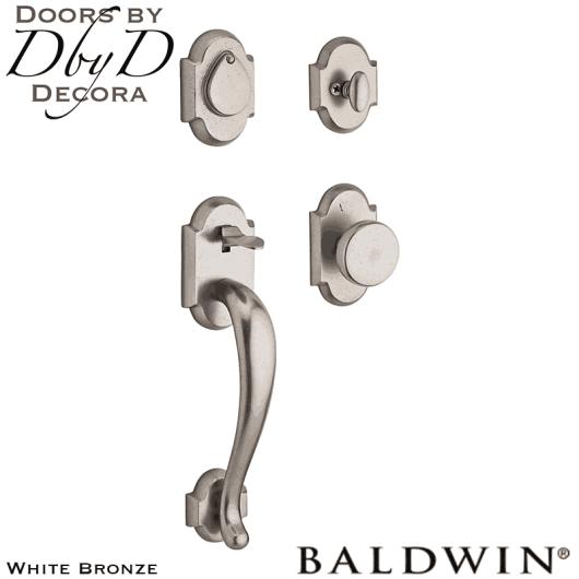 Baldwin reserve white bronze adirondack handleset.