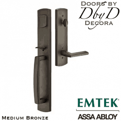 Emtek medium bronze brighton handleset.