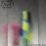 Spectrum crystal ice glass.