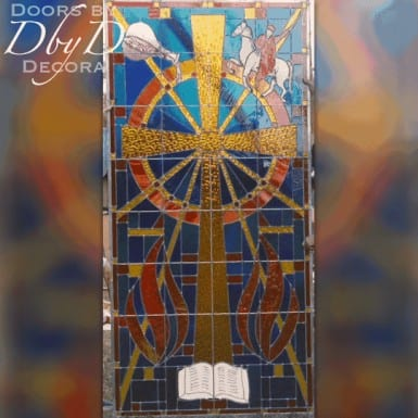 Custom church stained glass window.