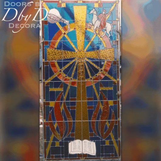Custom church stained glass window.