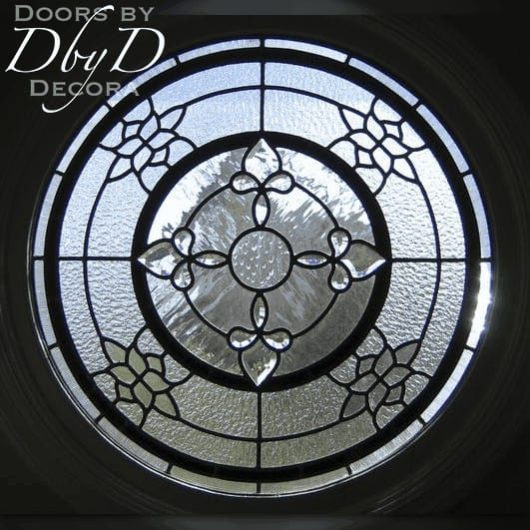 A interesting round leaded glass window.