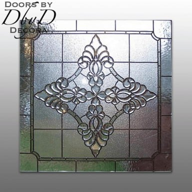 A beautiful and simple piece of leaded glass.
