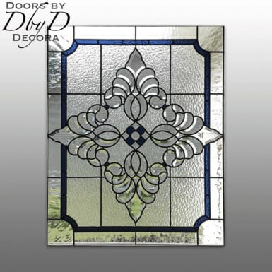 A beautiful and simple piece of stained glass.