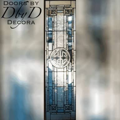 A custom piece of leaded glass.
