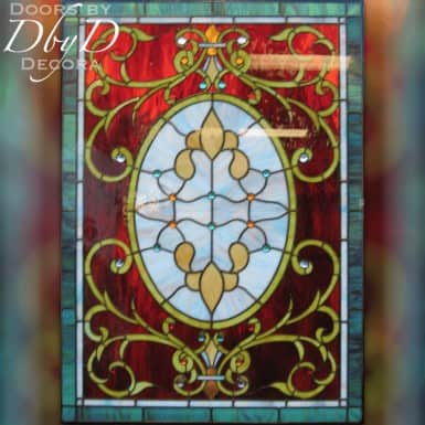 A unique stained glass window.
