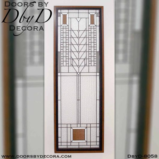 Arts & Crafts glass design brought to life by Doors by Decora.