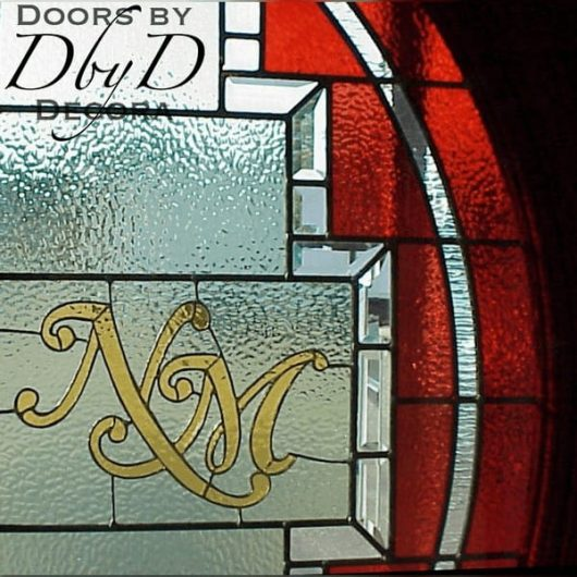Special monogrammed piece of stained glass.