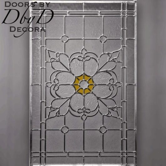 Rectangular piece of stained glass.