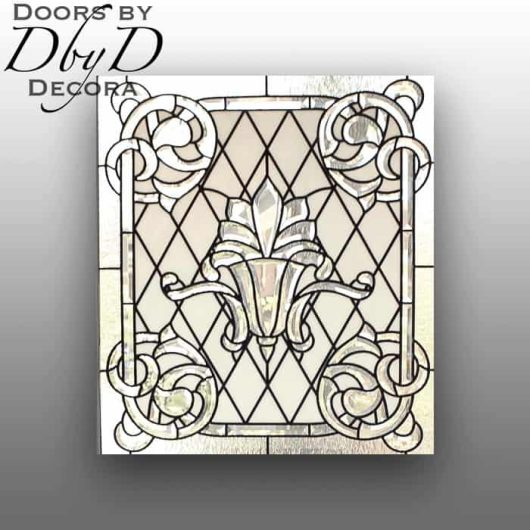 A unique piece of custom leaded glass.