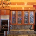 stained glass contemporary cabinets